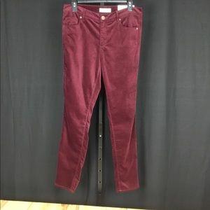 Ann Taylor Loft modern skinny velvet pants size 8